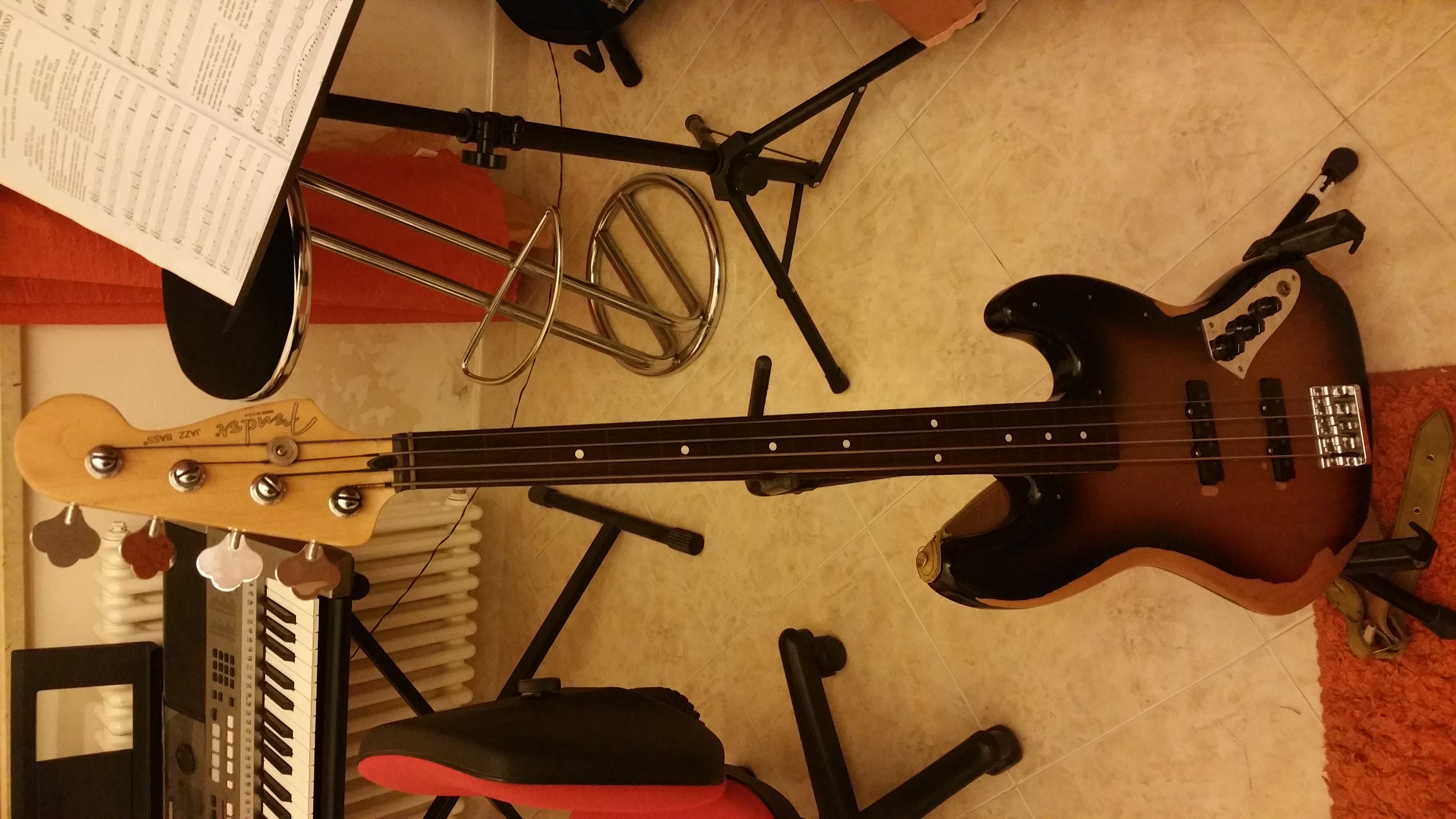 Bass fender jazz bass