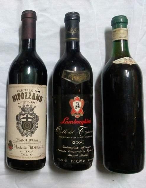 3 bottiglie di vino