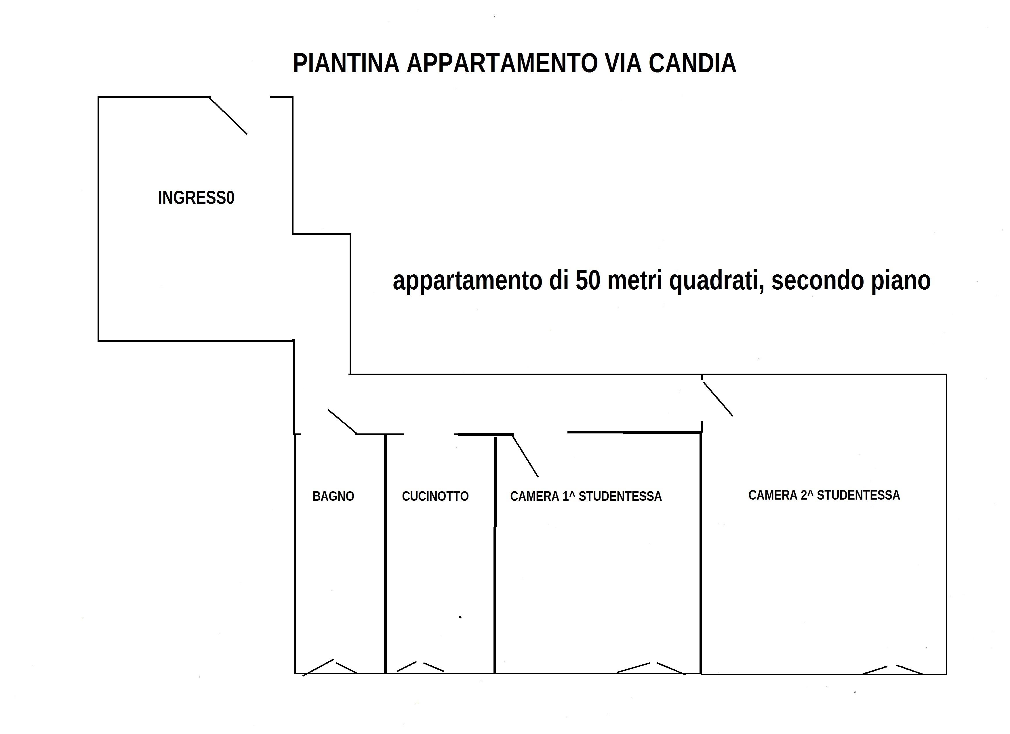 Appart. 50 mq Via Candia