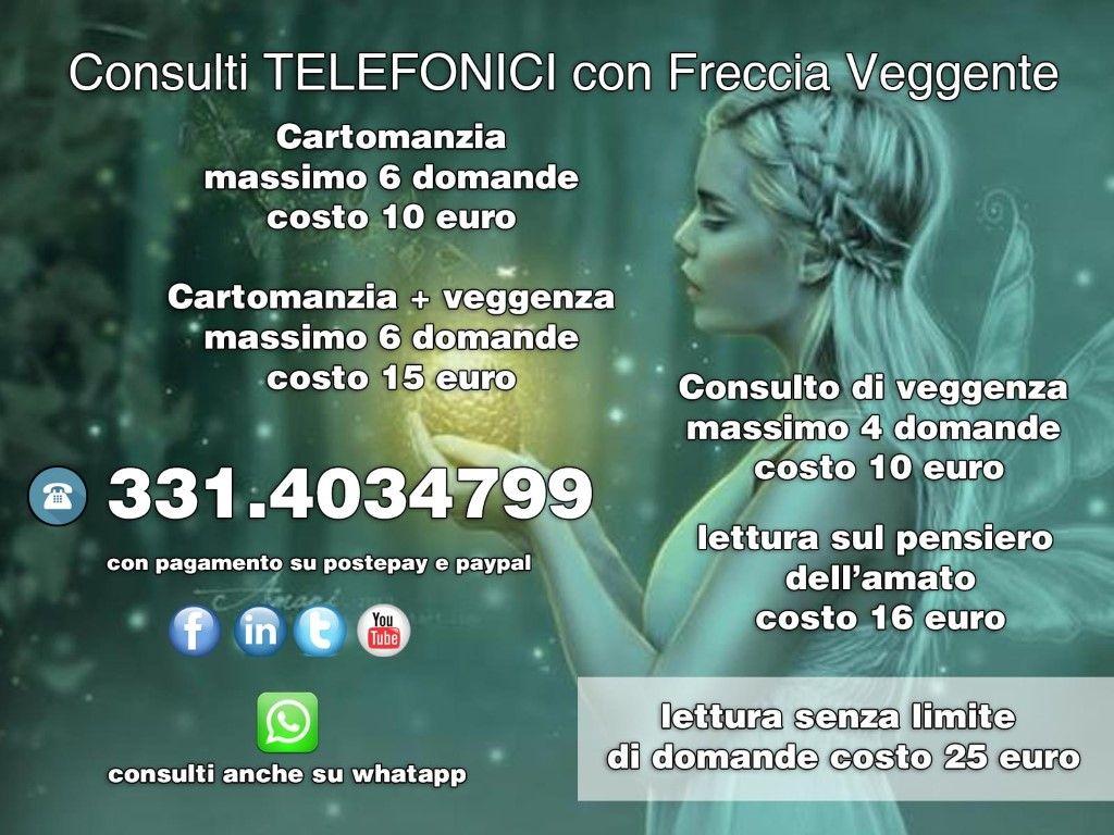 CONSULTI TELEFONICI  PROFESSIONALI A BASSO COSTO