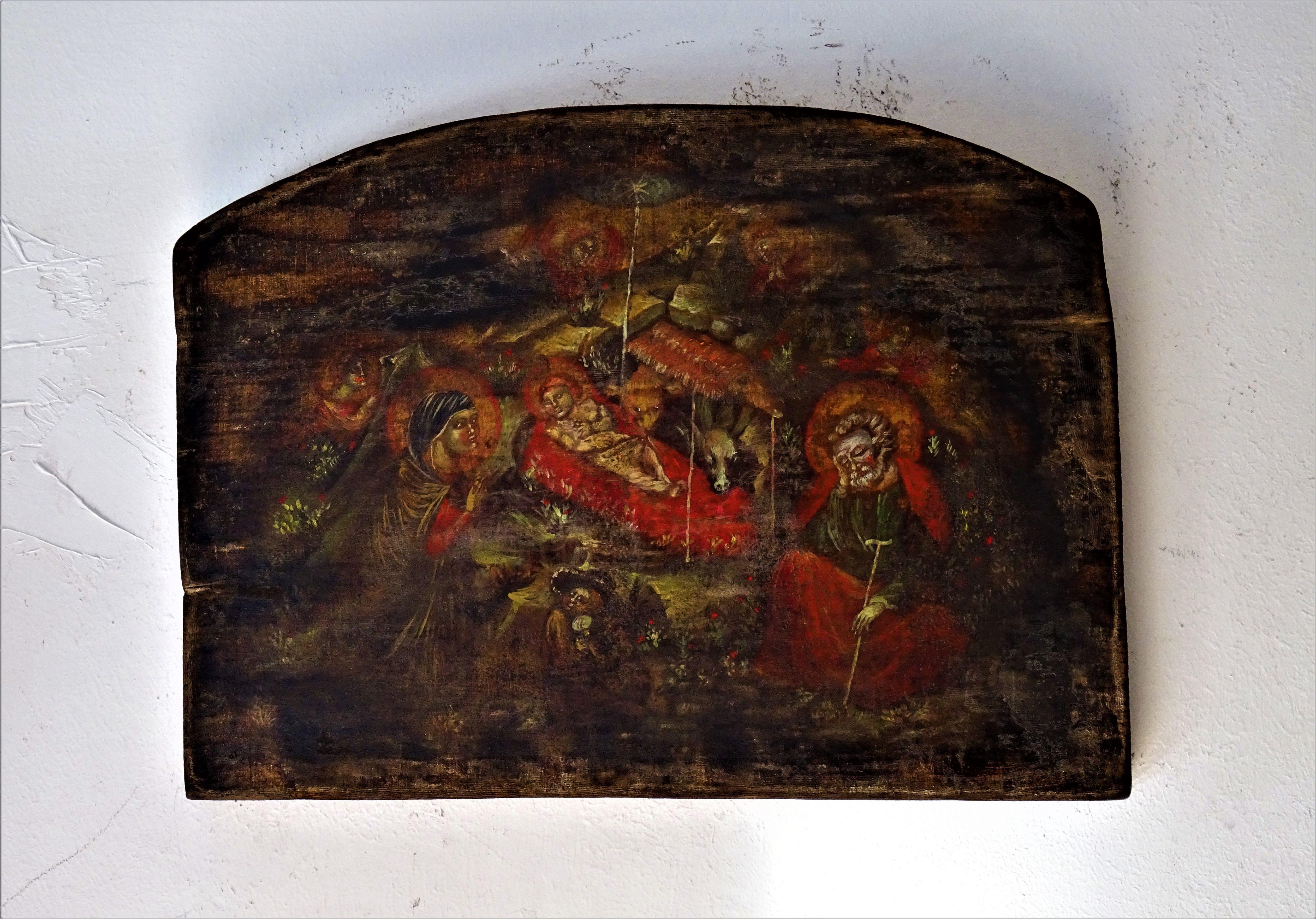 Nativita Naif  copia dipinta a mano